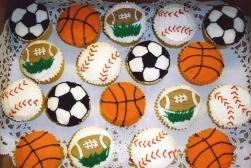 soccer balls, footballs, baseballs, basketballs, we do sticks, too