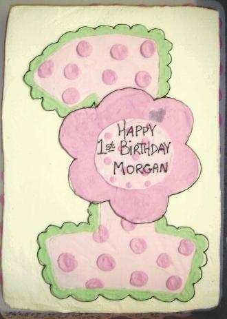 polka dots, pink and green
